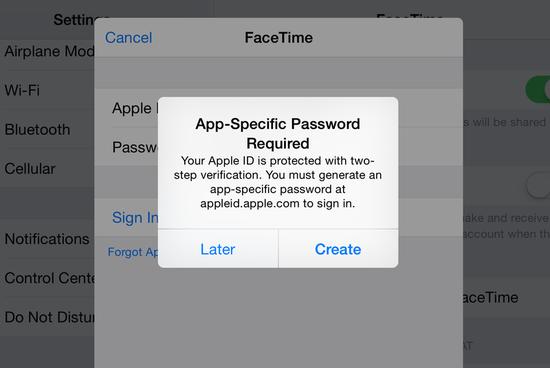 苹果两步验证机制保护iMessage和FaceTime