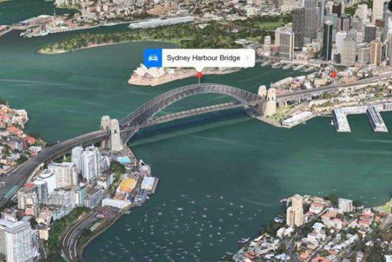 苹果地图3D图像增加动画效果