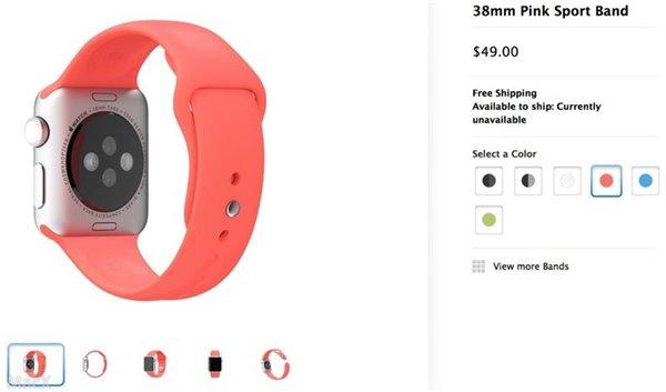 Apple Watch选错表带苹果免费换