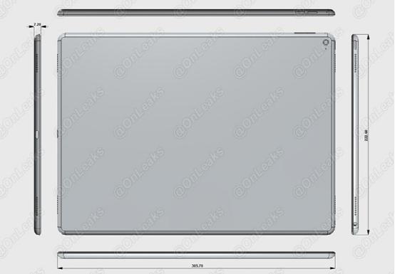 iPad Pro设计图再曝光:配笔记本CPU
