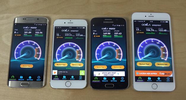 苹果三星旗舰机WiFi速度对比到底谁赢了?