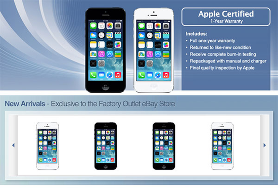 传苹果在eBay秘密开店:官翻iPhone 5仅售449美元
