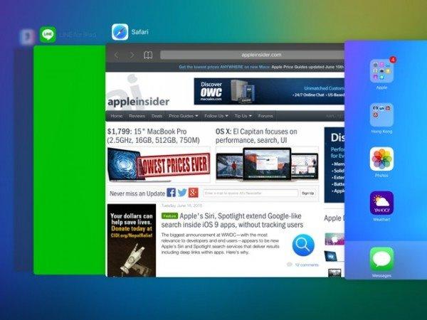 苹果iOS9应用切换器:全新设计,焕然一新