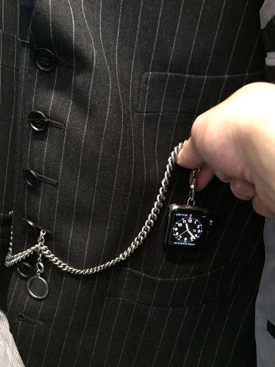 表带太贵?Apple Watch变身怀表照样潮
