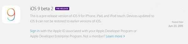 苹果iOS9 Beta2发布:改善电池续航