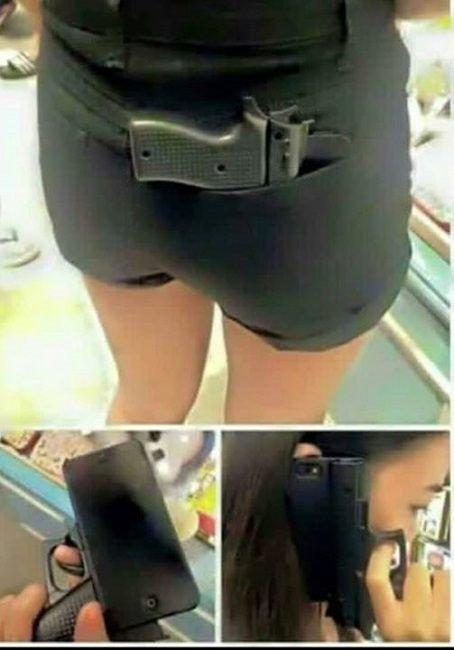 苹果iPhone手枪壳吓坏美国人:狂霸酷拽叼
