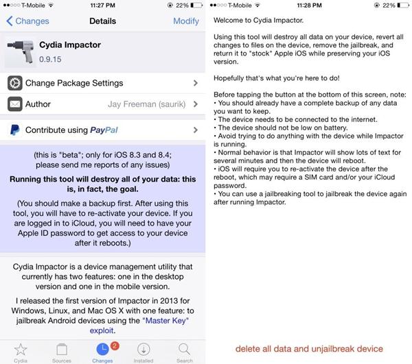 Cydia作者发布越狱解除工具 免升级系统!