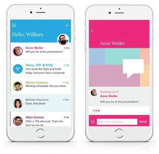 iOS上率先发布聊天风格收邮件应用
