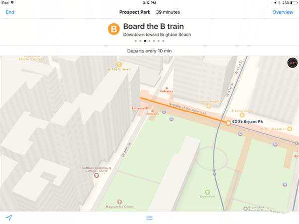 iOS 9新增公共交通导航  瞬间抢占主屏幕