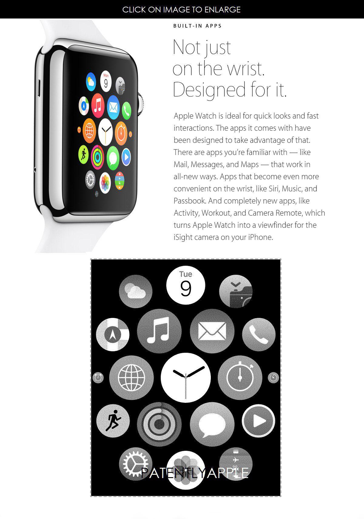 苹果获得 Apple Watch 主屏应用排列方式专利