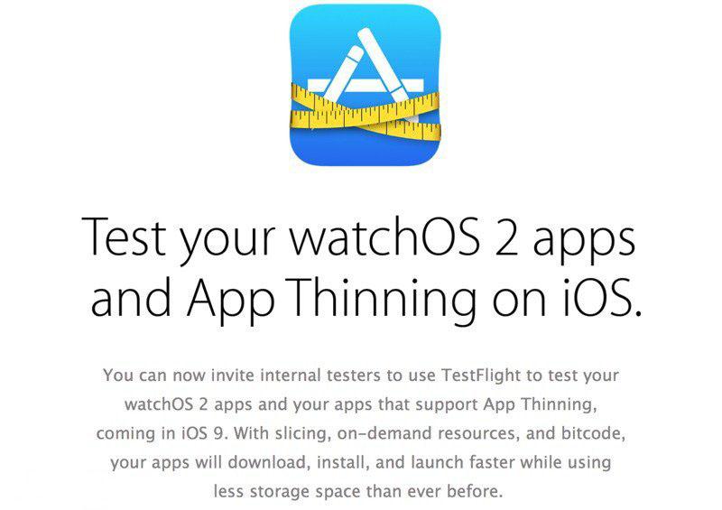 苹果更新 TestFlight 应用,支持 iOS 9、watchOS 2