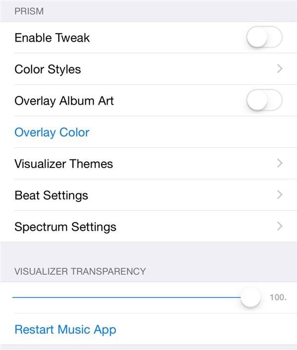 Prism插件 专为iOS8.4音乐应用打造