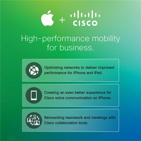 苹果与思科合作,为 iOS 企业用户提供更快访问速度
