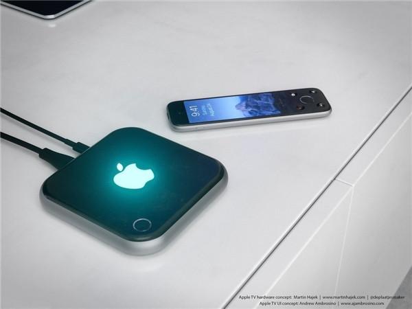 Apple TV 4 概念渲染:基于 iPhone 6 和 AW 设计理念