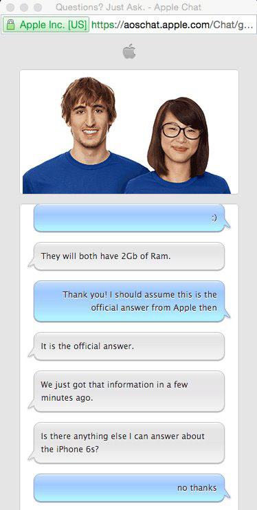 喜大普奔!iPhone 6s/Plus 均上2GB内存!