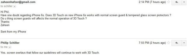 放心吧!iPhone 6s贴膜不会影响3D Touch