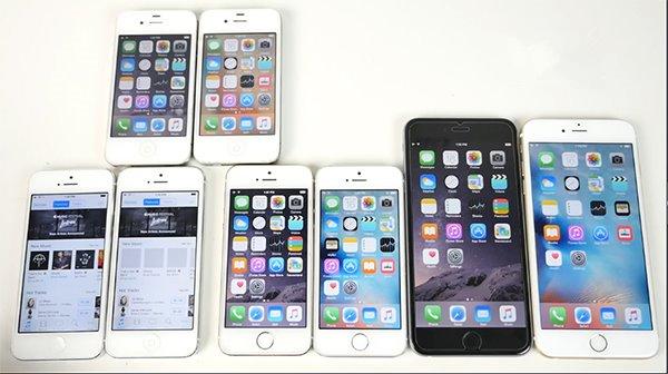 iOS9正式版全机型速度对比iOS8.4.1