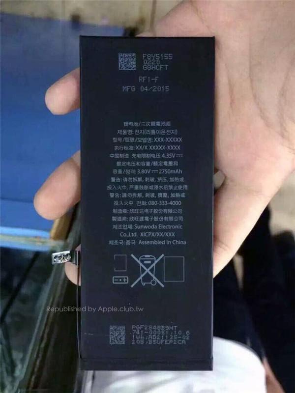 iPhone 6s Plus电池容量比6 Plus少5%