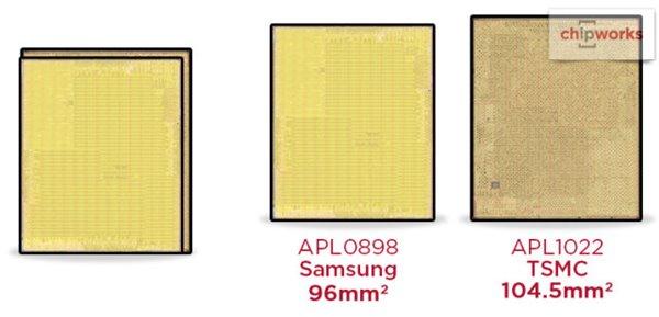 拆解苹果A9处理器:两个版本,两家供应商