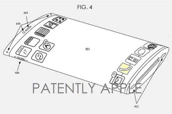 iPhone7将配曲面屏:专利两年前就申请