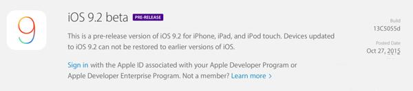 苹果iOS9.2 Beta发布:优化第三方应用兼容性