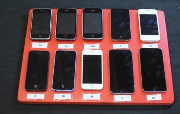 10代苹果iPhone齐入水:看看谁能扛得住
