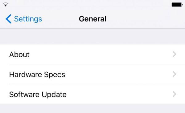如何查看iPhone6s硬件规格?HardwareSpecs帮你搞定