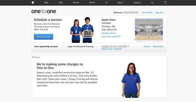 一对一服务本月停止:苹果推在线预约页面