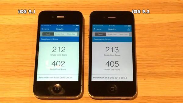 iPhone 4s运行iOS 9.1和iOS 9.2哪个更顺畅?