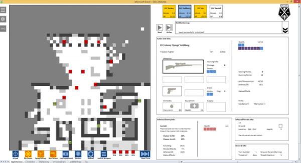 国外大神自制 Excel 版本《幽浮 XCOM》 这又是什么鬼?