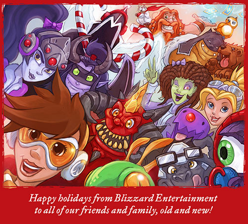 暴雪发布2015年圣诞贺卡 全游戏明星齐聚一堂