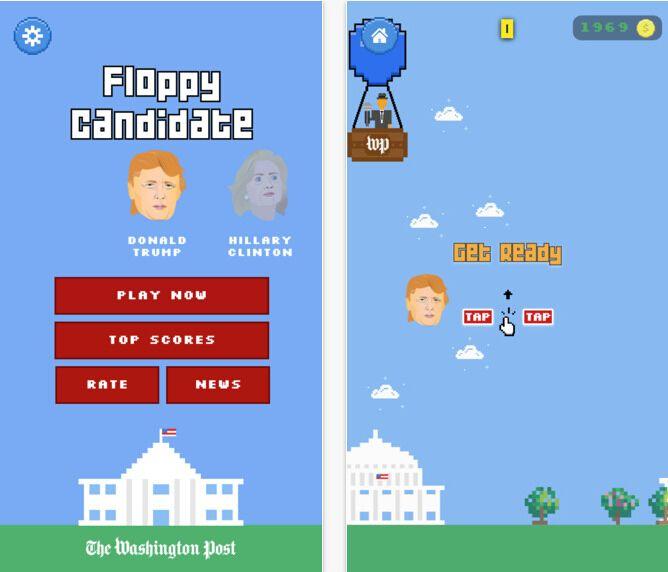 华盛顿邮报也做游戏  美总统候遭调侃