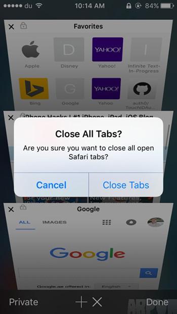Safari怎么快速关闭所有标签页?