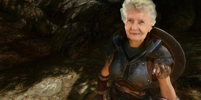 79岁老婆婆每日直播《上古卷轴》  粉丝即将突破10万