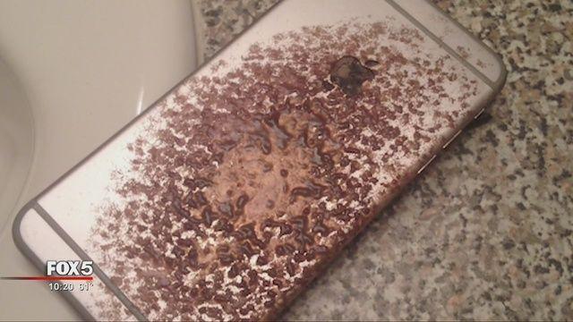 真是倒霉:Phone 6 Plus充电时着火了