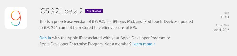 iOS 9.2.1 beta 2已来,你跟得上吗?