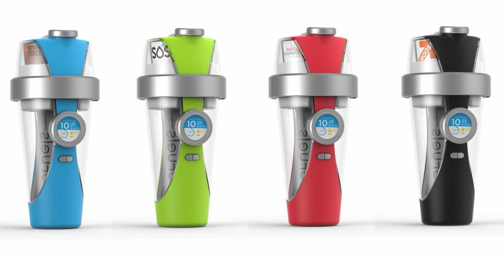 iPhone可控制的智能水瓶:分配营养保健康