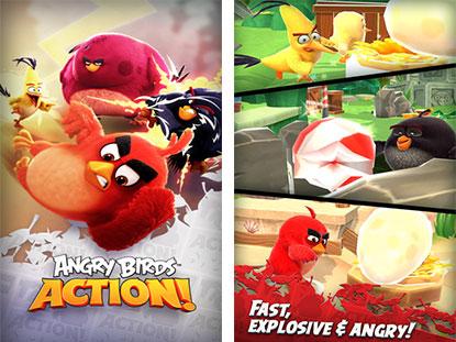 《愤怒的小鸟:行动》先行上架 大腿怒鸟突袭鸟蛋弹珠台