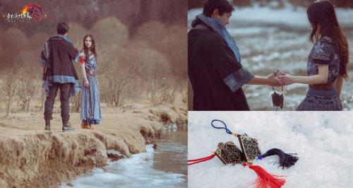 玩家拍创意结婚照 雪地推到求爱