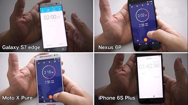 三星S7 Edge/iPhone6s等速度大比拼:苹果折桂