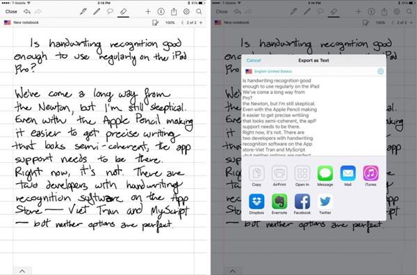 有没有人想要 iPhone/iPad 有手写识别功能
