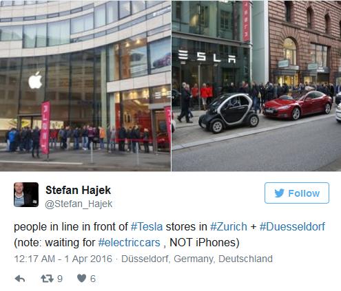 iPhone SE发售日苹果店门前冷清