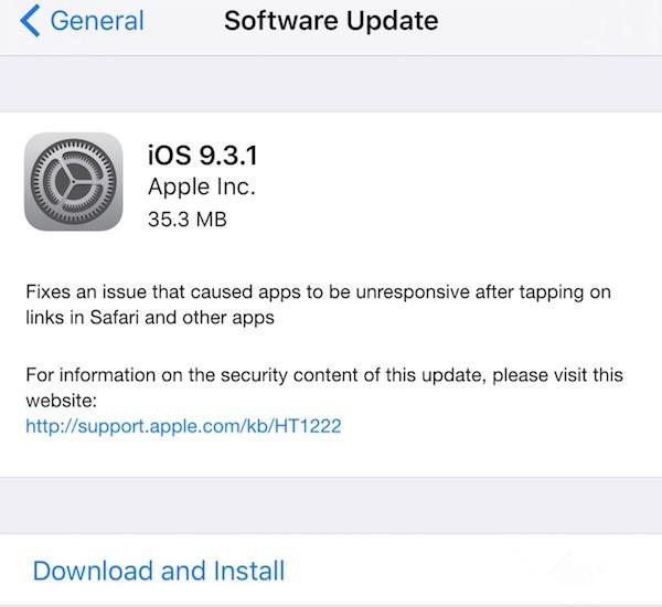 苹果iOS9.3.1固件下载地址汇总