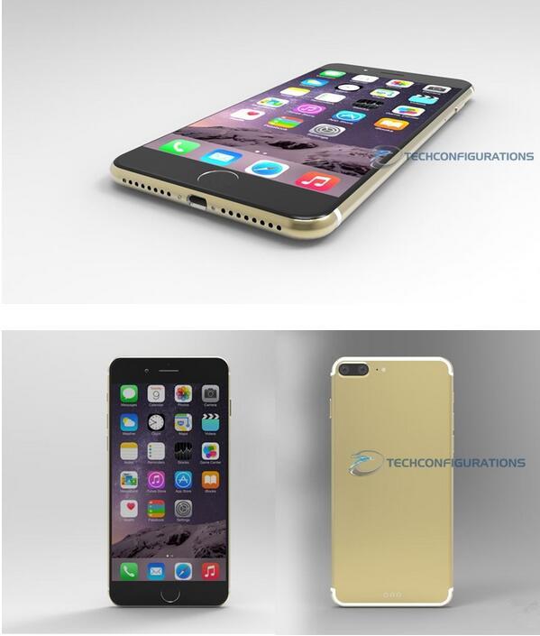 iPhone 7 Plus概念设计 天线和摄像头是亮点
