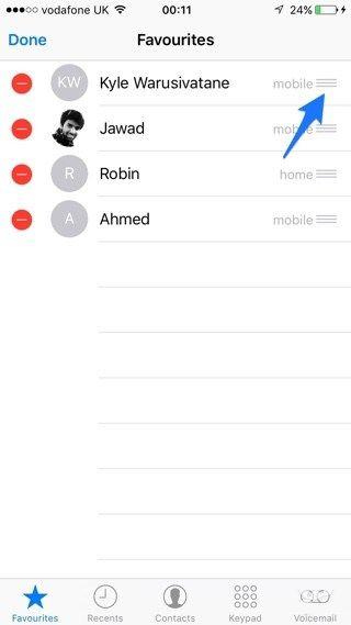 """让""""喜欢的人""""出现在电话应用 3D Touch 菜单"""