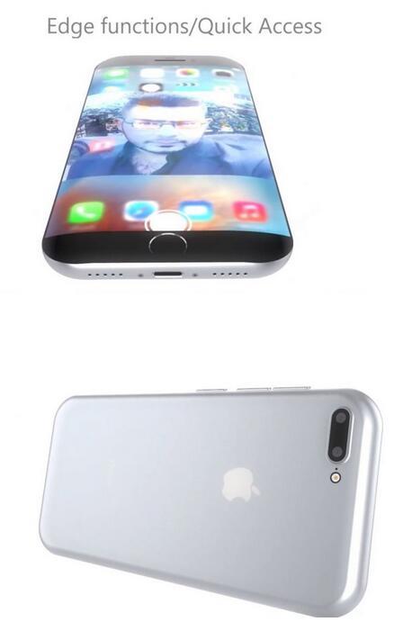 iPhone 7 Edge概念设计:潮流曲面屏太吸睛