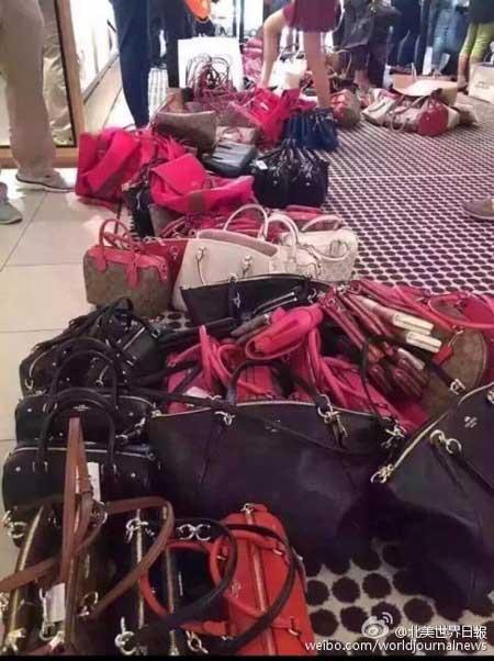 太疯狂!芝加哥奢侈品特卖会被华人代购挤爆