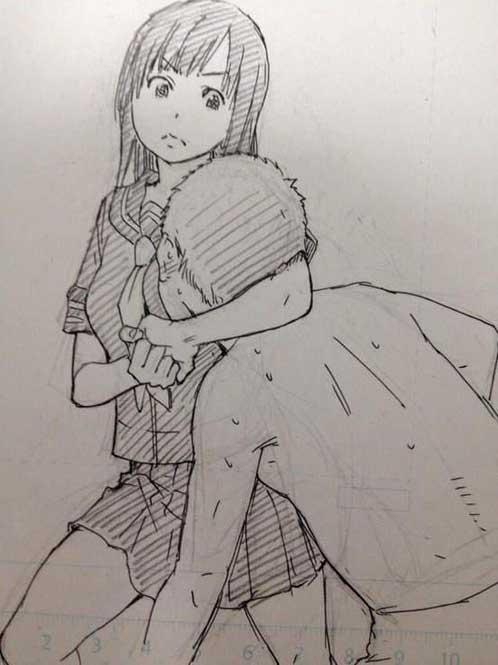 画面太污 日本工口漫画家绘制二次元女子防身术