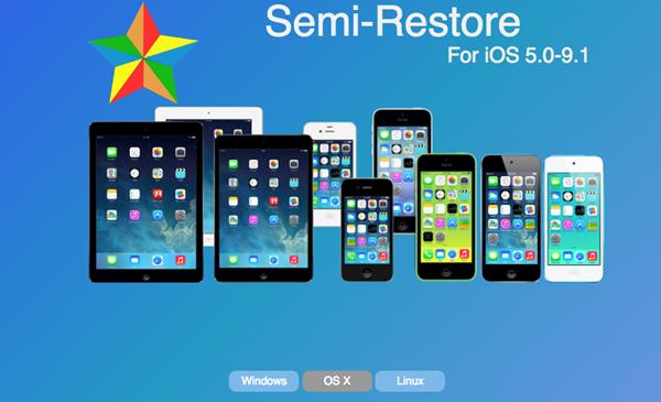想越狱系统恢复到干净状态请用Semi-Restore,已兼容iOS 9.1