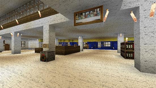 再出神作 《我的世界》玩家建造十大最美图书馆